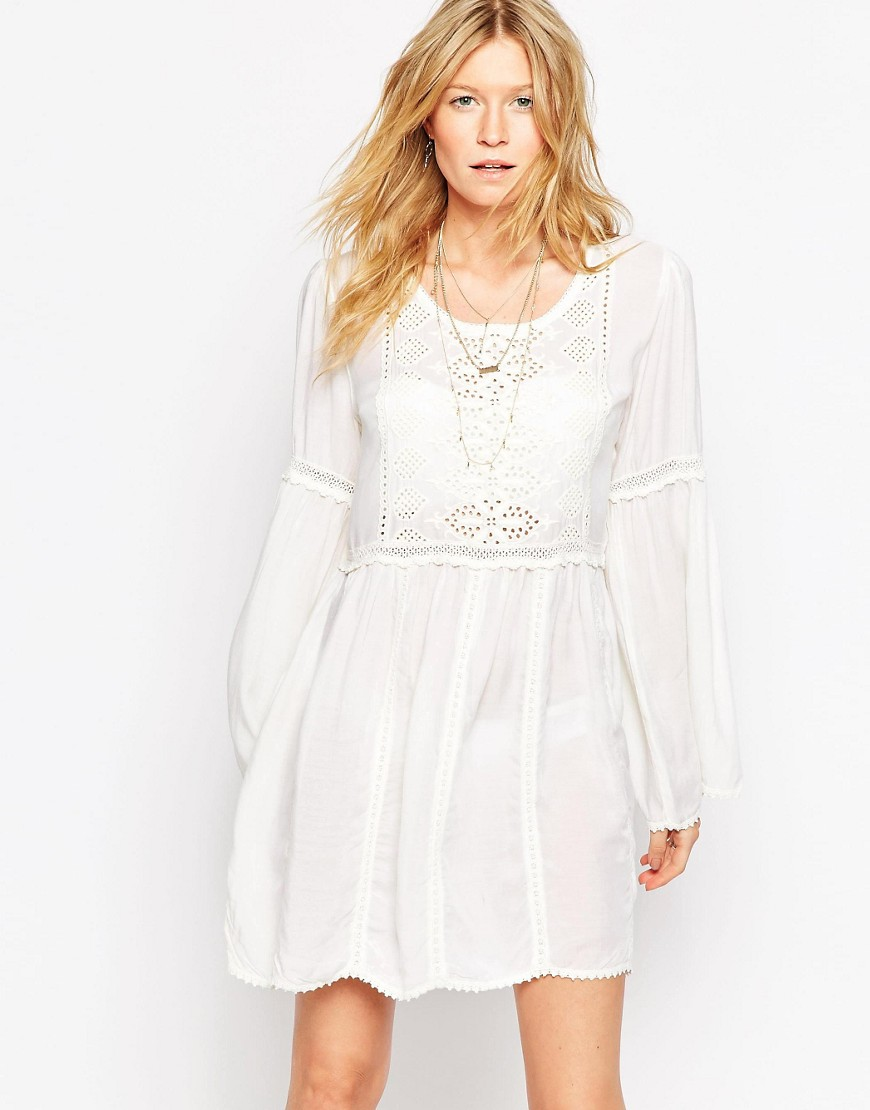 Melissa Odabash Anabelle Beach Smock Dress - Cream