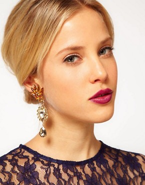 Image 2 ofASOS Mismatch Jewel Opulent Earrings