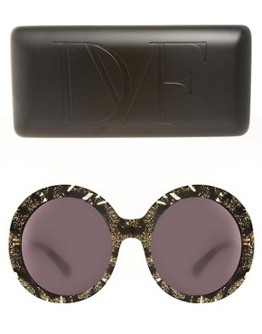 Image 2 ofDVF Monochrome Round Sunglasses