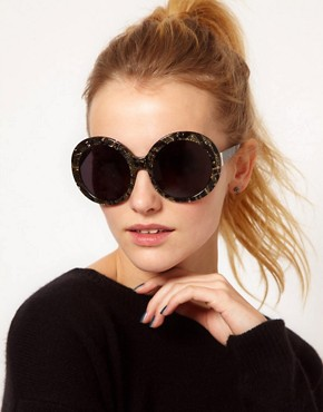 Image 3 ofDVF Monochrome Round Sunglasses