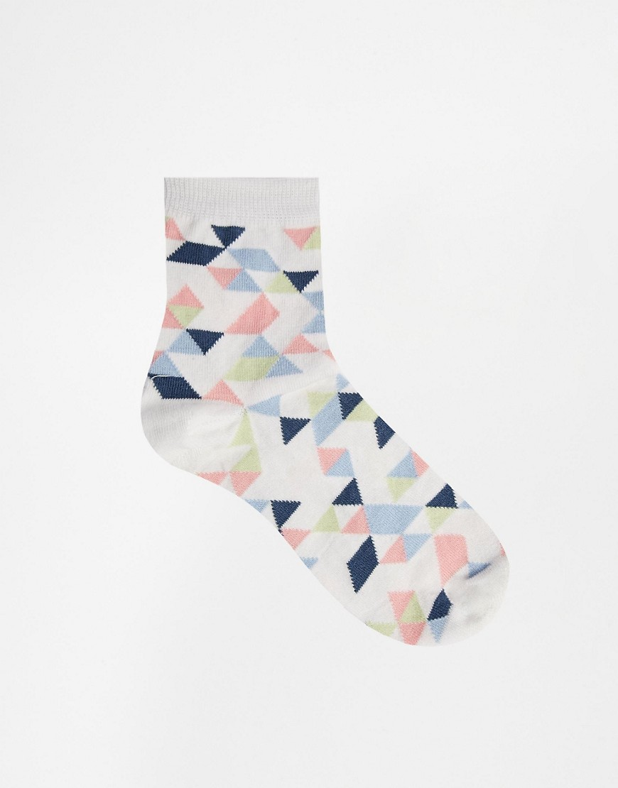 Image 2 of ASOS Geo Ankle Socks