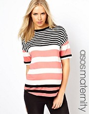 ASOS Maternity Exclusive T-Shirt in Stripe