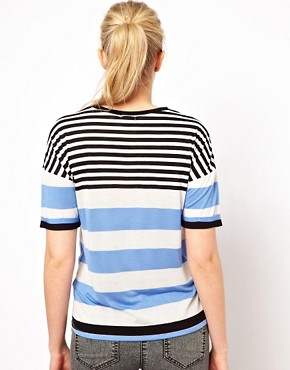 Image 2 of ASOS Maternity Exclusive T-Shirt in Stripe