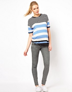 Image 4 of ASOS Maternity Exclusive T-Shirt in Stripe