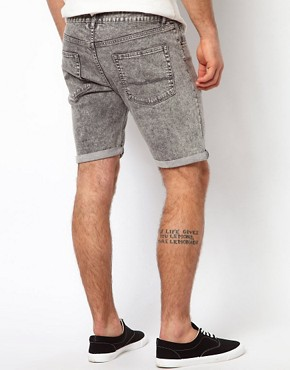Image 2 ofASOS Denim Shorts With Acid Wash