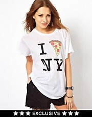 Wildfox A Slice Of NY T-Shirt Exclusive To Asos
