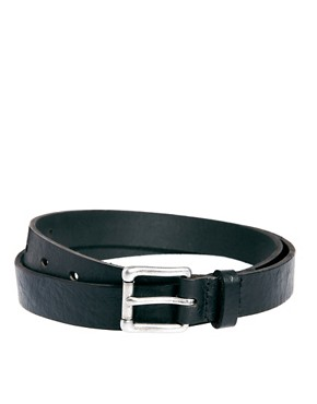 Image 1 ofASOS Leather Ostrich Belt