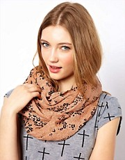 Pieces Majken Animal Print Scarf