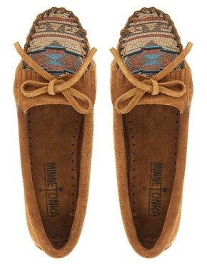 Image 3 ofMinnetonka El Paso II Brown Suede Moc Shoes