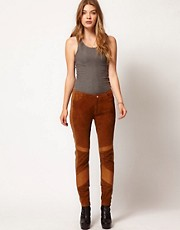 Dagmar Deryl Suede Pants With Leather Detail