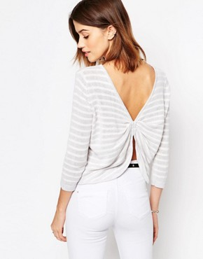 Shae Back Detail Stripe Jumper