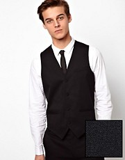 ASOS Waistcoat In Black
