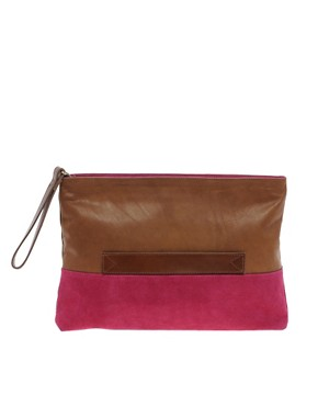 Bild 1 von ASOS  Lederclutch mit Reiverschluss und Griff
