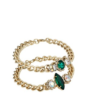 Image 1 ofASOS Double Stone ID Bracelets