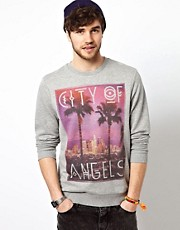 ASOS Sweatshirt With City Of Angel Print