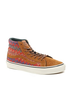Image 1 ofVans California SK8-Hi Slim Ca Brown High Top Trainers