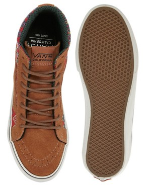 Image 2 ofVans California SK8-Hi Slim Ca Brown High Top Trainers