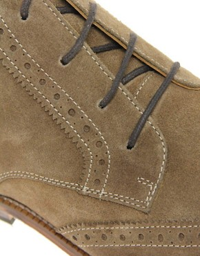 Image 2 ofASOS Brogue Chukka Boots with Leather Sole