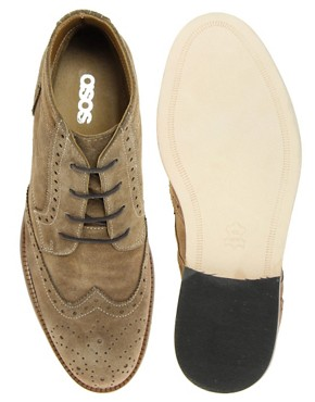 Image 3 ofASOS Brogue Chukka Boots with Leather Sole