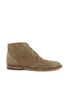 Image 4 ofASOS Brogue Chukka Boots with Leather Sole