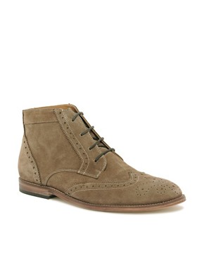 Image 1 ofASOS Brogue Chukka Boots with Leather Sole