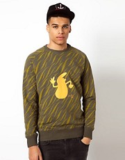 Le Fix Crew Neck Sweatshirt Tiger Kaj