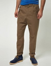 Camo Flap Pocket Poplin Trousers