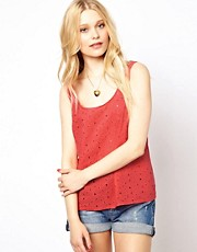 River Island Broidery Front Tank Top