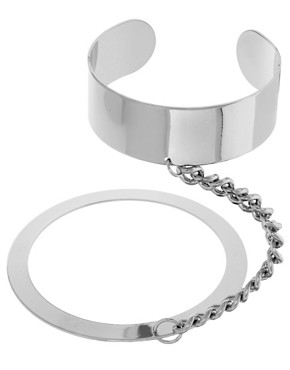 Image 2 ofASOS Linked Cuff &amp; Bangle