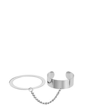 Image 1 ofASOS Linked Cuff &amp; Bangle