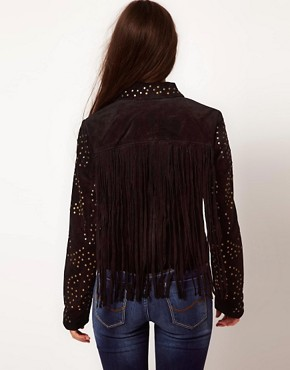 Image 2 ofVila Studded Suede Jacket