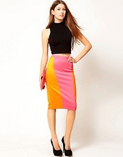 Rare Colour Block Pencil Skirt