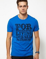 Camiseta con estampado de la marca T-Nuclear Circus de Diesel