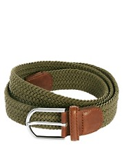 ASOS Khaki Elastic Chino Belt