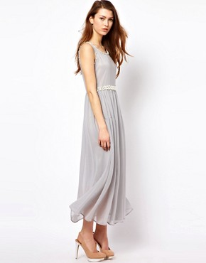 Image 1 ofThe Style Maxi Dress With Pearl Embellishment