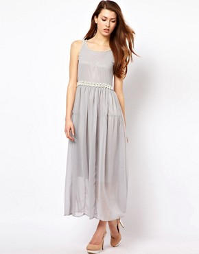 Image 4 ofThe Style Maxi Dress With Pearl Embellishment