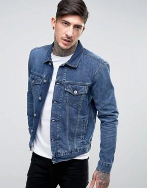Выбеленная джинсовая куртка Edwin High Road - Синий