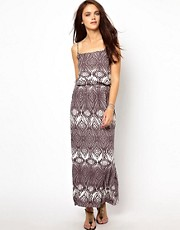 River Island Waisted Dress in Absract Print