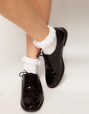 Image 2 ofASOS Crochet Lace Frill Socks