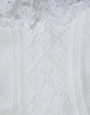 Image 3 ofASOS Crochet Lace Frill Socks