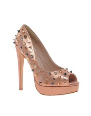 Carvela Genie Studded Metallic Platform Shoes