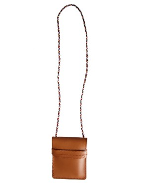 Image 2 of ASOS Leather Pouch Necklace