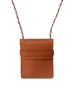 Image 1 of ASOS Leather Pouch Necklace