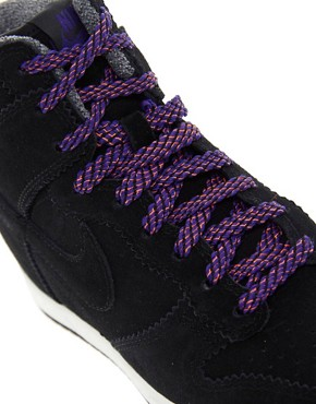 Image 2 ofNike Dunk Sky High Top Black Wedge Trainers