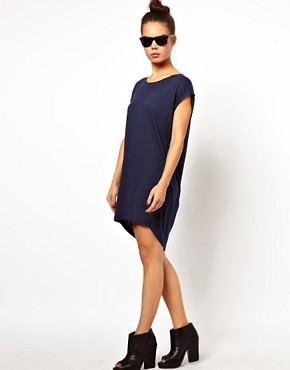 Image 4 ofWH100 by Won Hundred Hinda Cacoon Jersey Tunic Dress