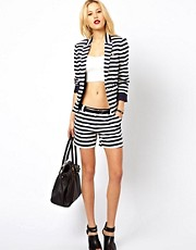 Mango Stripe Tailored Shorts