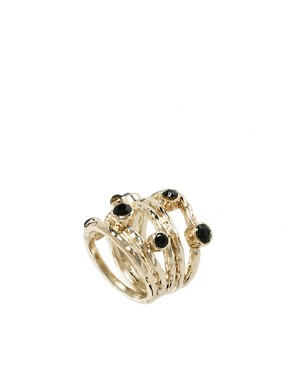 Image 1 ofFrench Connection Wrap Ring With Stones