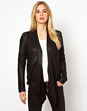 Vila Leather Studded Jacket