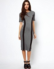 ASOS Pencil Dress With Contour Panels