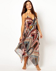 ASOS Tribal Scarf Print Beach Dress